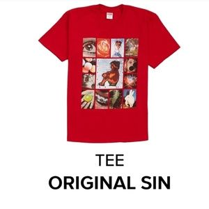 Supreme Original Sin Tee. Red. Medium. SS19